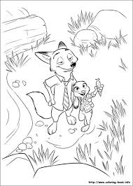 zootopia coloring picture
