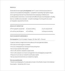 Gallery Of Photographer Resume Template