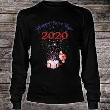 Happy New Year Shirt Design Funny 2020 Happy New Year Christmas Gift Cute Design Shirt