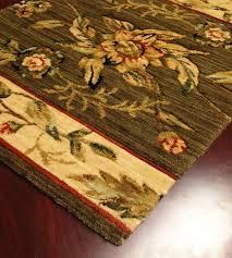 botanical bo01 green fl carpet stair runner