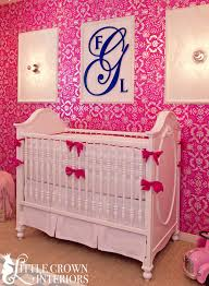 nursery hot pink crib bedding