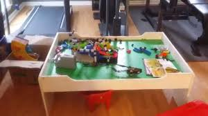 Train Set Table With Drawers White Melissa And Doug Play Table With Drawer Youtube