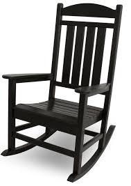 com polywood r100bl presidential rocker black rocking chairs garden outdoor