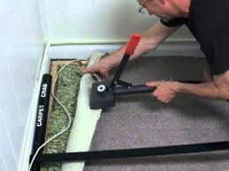 carpet power stretcher. how to remove carpet wrinkles with the crab power stretcher