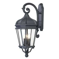 the great outdoors by minka lavery harrison 4 light black outdoor wall mount lantern