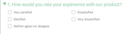 Surveys Questionnaires Examples Customer Satisfaction Survey Questions Surveymonkey