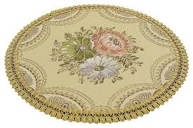 set of 2 cloth placemats round placemats dining table mats embroidery victorian placemats by blancho bedding