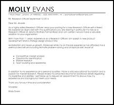 Typical Resume Cover Letter Research Officer Cover Letter Sample Cover Letter