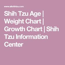 Shih Tzu Age Weight Chart Growth Chart Shih Tzu