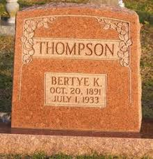 Bertye Eula Kirk Thompson (1891-1933) - Find A Grave Memorial