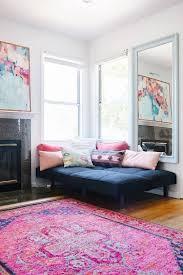 DHP Furniture  Allegra Pillowtop FutonFuton In Living Room
