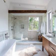 Rustic bathroom design Cheap Example Of Mountain Style Beige Tile Beige Floor Bathroom Design In Denver With Flat Houzz 75 Most Popular Rustic Bathroom Design Ideas For 2019 Stylish