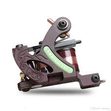 лучшие профессии татуировки Shader пулемет 10 катушек обертывания меди сплава рамка