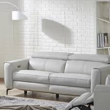 for a modern sophisticated look nakale leather reclining loveseat