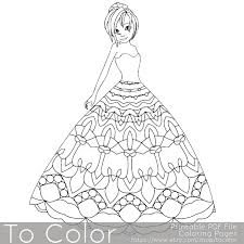 11 Pretty Princess Coloring Pages This Printable Coloring Page
