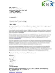 Authorization Letter Knx Tc