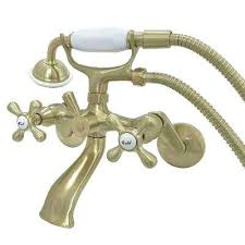 where are kingston brass faucets made wall mount adjule centers 3 handle claw foot tub faucet