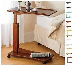 side table laptop bedside swivel table steelwood design this is exactly what i m looking for except it would be rad if height was adjule
