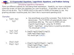3 5 exponential equations logarithmic equations and problem solving 3 a