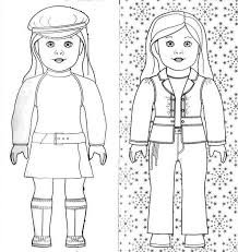 Lovely American Girl Coloring Page Coloring Page