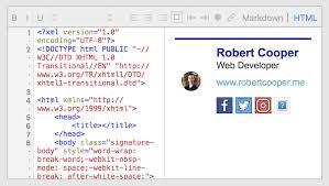 Email Signature Html Creating Slick Email Signatures Using Html Css Robert Cooper