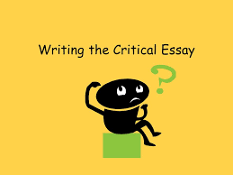 writing the critical essay introduction this paragraph should 1 writing the critical essay
