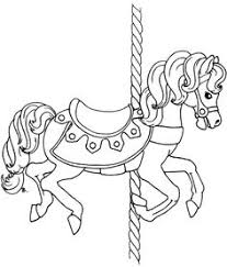 Small Picture Beautiful Carousel Horse Coloring Pages Crafting For Adults