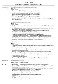Manager Medical Affairs Resume Samples Velvet Jobs
