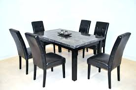 glass top dining table set 6 chairs round