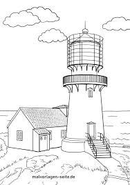 Die malvorlage hat das optimale format, um auf einer din a4 seite ausgedruckt werden zu können. Malvorlage Leuchtturm Gebaude Kostenlose Ausmalbilder