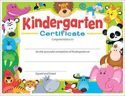 Kindergarten Graduation Certificate Free Printable Kindergarten