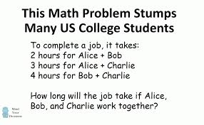 3 words that describe you can you solve a math word problem that stumps us college students a