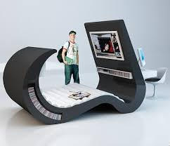 furniture for teenagers. this conceptual furniture by brazilian designer roberta rimme is an allinone set which can be used teenagers and youth as a computer workplace for