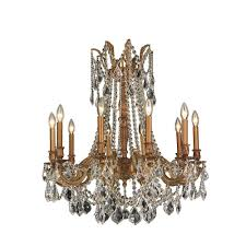 worldwide lighting windsor 10 light french gold crystal chandelier