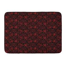 red and black bath rug mat set argos east urban home black bathroom