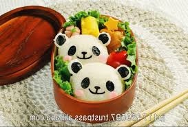 Bento Box Decorations Japanse Rice Cooker Kitchen Tools Panda Bear Decorations Children 29