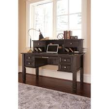 home office desk with hutch. Signature Design By Ashley Townser Grey Home Office Desk Hutch - Free Shipping Today Overstock 21062768 With