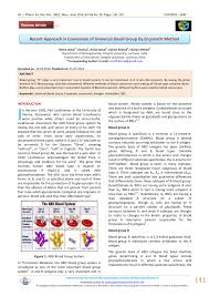 Universal Recipients Blood Designation Pdf Recent Approach In Conversion Of Universal Blood Group