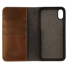 nomad folio wallet case for the apple iphone x and xs brown leather 2