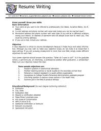 Career Objective For Experienced Resume Resume Objective Examples For All Jobs Free Career Fi Sevte 100