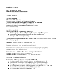 academic instructor resume sample of academic resume