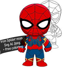 Get your team aligned with all the tools you need on one secure, reliable video platform. Svg Chibi Iron Spiderman Svg Free Coloring Marvel Svg Etsy