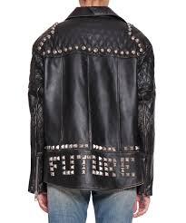 gucci future leather biker jacket nero