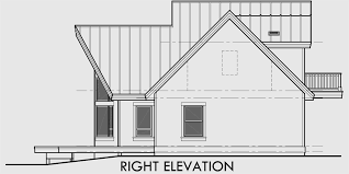 house side elevation view for 9932 a frame house plan master on the main