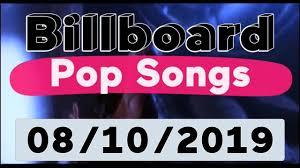 Billboard Top 40 Pop Songs August 10 2019