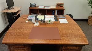 antique american oak partners desk