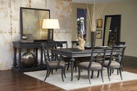 Pulaski Living Room Furniture Vintage Tempo Leg Table Dining Room Set In Charcoal Black By