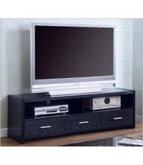 black oak tv console stand with smoke black tempered glass top 700645