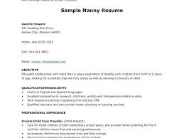 applying for nanny jobs nanny resume cover letter samples krida info
