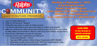 if you prefer to register by phone call 1 800 443 4438 and have your ralphs rewards card handy
